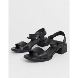 カンペール Camper レディース シューズ・靴 サンダル・ミュール【two part low heel sandal in black】Black