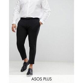 エイソス ASOS DESIGN メンズ ボトムス・パンツ クロップド【Plus super skinny cropped smart trousers in black】Black