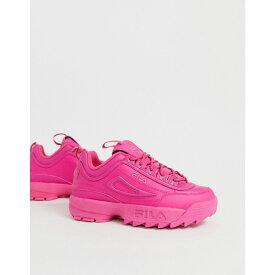 フィラ Fila レディース シューズ・靴 スニーカー【Pink Disruptor II Premium Trainers】Purple