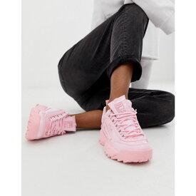 フィラ Fila レディース シューズ・靴 スニーカー【Dusty Pink Disruptor II Premium Patent Trainers】Pink