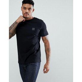 ヒューゴ ボス BOSS メンズ トップス Tシャツ【Tales box logo t-shirt in black】Black