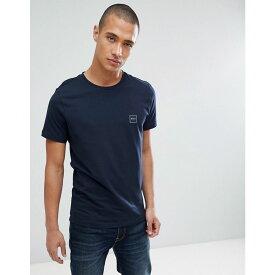 ヒューゴ ボス BOSS メンズ トップス Tシャツ【Tales box logo t-shirt in navy】Navy