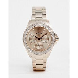 ヒューゴ ボス BOSS メンズ 腕時計【1502443 Premiere bracelet watch in rose gold】Gold