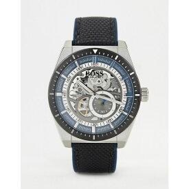 ヒューゴ ボス BOSS メンズ 腕時計【1513643 Signature leather watch】Black