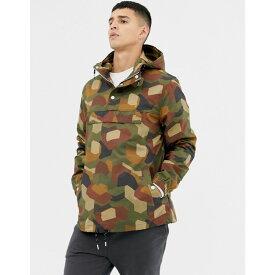 ファーラー Farah メンズ アウター ジャケット【Zach geo printed overhead jacket in camo】Green