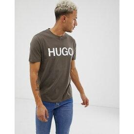 ヒューゴ ボス HUGO メンズ トップス Tシャツ【Dolive-U3 logo t-shirt in Khaki】Green