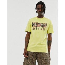 ビリオネアボーイズクラブ Billionaire Boys Club メンズ トップス Tシャツ【pigment dyed fish camo logo t-shirt in yellow】Yellow