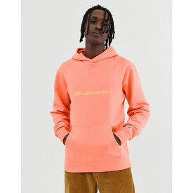 ビリオネアボーイズクラブ Billionaire Boys Club メンズ トップス パーカー【embroidered logo pullover hood in orange】Coral