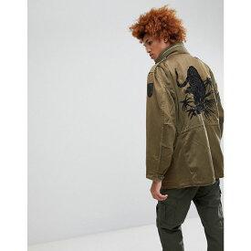 マハリシ メンズ アウター ジャケット【Upcycled Tiger Print M65 Jacket】Green