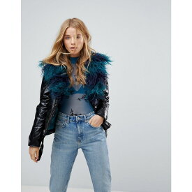 ミンクピンク Minkpink レディース アウター ジャケット【Midknight Fur Lined Biker Jacket With Faux Fur】Black
