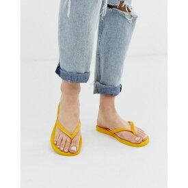 ハワイアナス Havaianas レディース シューズ・靴 ビーチサンダル【slim flip flops in bright yellow】Banana yellow