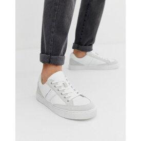 ヴェルサーチ Versace Jeans メンズ シューズ・靴 スニーカー【trainers with logo in white】White