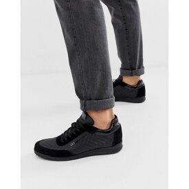 ヴェルサーチ Versace Jeans メンズ シューズ・靴 スニーカー【trainers with all over logo in black】Black