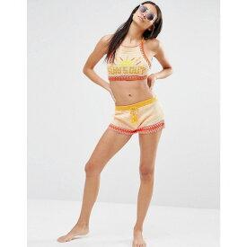 ミンクピンク Minkpink レディース 水着・ビーチウェア ビーチウェア【Suns Out Drawstring Crochet Mini Shorts】Multi