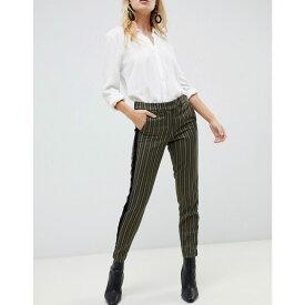 シスレー Sisley レディース ボトムス・パンツ【stripe tailored trouser】Green