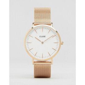 クルース Cluse メンズ 腕時計【CLUSE La Boheme CL18112 mesh strap watch in rose gold】Rose gold