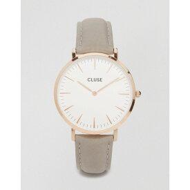 クルース Cluse メンズ 腕時計【CLUSE La Boheme CL18015 leather strap watch in grey】Grey