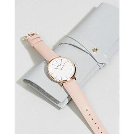 クルース Cluse メンズ 腕時計【CLUSE La Boheme CL18014 leather strap watch in pink】Pink