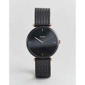 クルース Cluse メンズ 腕時計【CLUSE Triomphe CL61004 mesh strap watch in black】Black