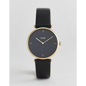 クルース Cluse メンズ 腕時計【CLUSE Triomphe CL61006 leather strap watch in black】Black