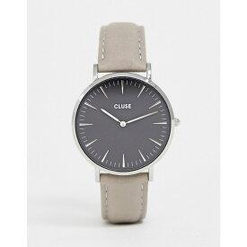 クルース Cluse レディース 腕時計【CLUSE La Boheme Black & Grey Leather Watch】Grey/black