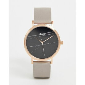 クルース Cluse レディース 腕時計【CLUSE La Roche Rose Gold & Black Marble Leather Watch】Grey/rose gold