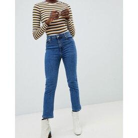 ウェアハウス Warehouse レディース ボトムス・パンツ ジーンズ・デニム【high waisted straight leg jeans in mid wash】Mid wash