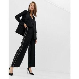 ウェアハウス Warehouse レディース ボトムス・パンツ【wide leg tuxedo trousers in black】Black