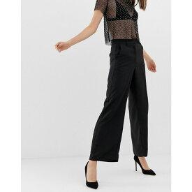 ウェアハウス Warehouse レディース ボトムス・パンツ【tuxedo wide leg trousers】Black