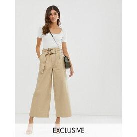 ウェアハウス Warehouse レディース ボトムス・パンツ ジーンズ・デニム【wide cut trousers with belt in stone】Sand