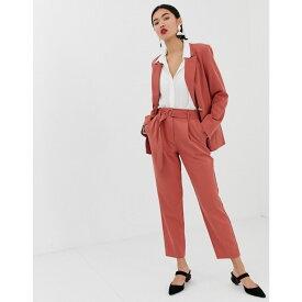 ウェアハウス Warehouse レディース ボトムス・パンツ【tapered trousers with belt in pink】Pink
