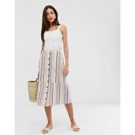 ウェアハウス Warehouse レディース スカート ひざ丈スカート【multi stripe midi skirt in multi stripe】Multi