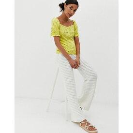 ウェアハウス Warehouse レディース ボトムス・パンツ【x Shrimps crochet trousers in cream】Cream