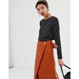 ウェアハウス Warehouse レディース トップス ブラウス・シャツ【blouse in spot print】Black print