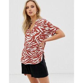ウェアハウス Warehouse レディース トップス ブラウス・シャツ【blouse in animal print】Tan