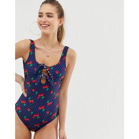 ジューシークチュール Juicy Couture レディース 水着・ビーチウェア ワンピース【cherry gingham revisible swimsuit】Multi print