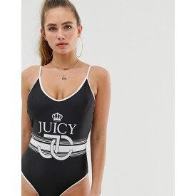 ジューシークチュール Juicy Couture レディース 水着・ビーチウェア ワンピース【logo placement suit】Black