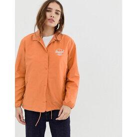 ハーシェル サプライ Herschel Supply Co レディース アウター ジャケット【Herschel voyage packable coach jacket back logo print in carnelian】Carnelian