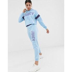 ジューシークチュール Juicy Couture レディース ボトムス・パンツ ジョガーパンツ【Juicy By Juicy logo jogger with cuffed hem】Powder blue