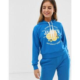 ジューシークチュール Juicy Couture レディース トップス パーカー【Juicy By Juicy lemon logo hoodie】Cobalt blue