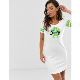 ジューシークチュール Juicy Couture レディース ワンピース・ドレス ボディコンドレス【Juicy By Juicy logo bodycon tee dress】White