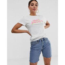 ジューシークチュール Juicy Couture レディース トップス Tシャツ【Juicy By Juicy 100% Juicy slogan tee】White