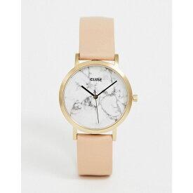 クルース Cluse レディース 腕時計【CLUSE La Roche Marble Pink & Rose Gold Leather Watch】Pink/rose gold