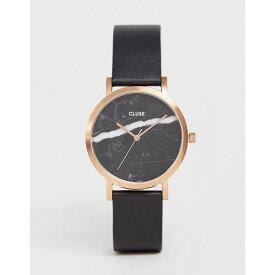 クルース Cluse レディース 腕時計【CLUSE La Roche Marble Black & Rose Gold Leather Watch】Black/rose gold