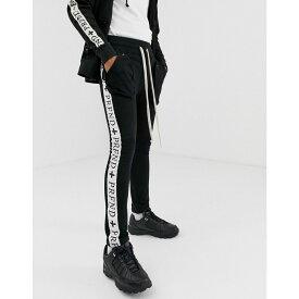 プロファウンド Profound Aesthetic メンズ ボトムス・パンツ ジョガーパンツ【track stripe joggers in black】Black