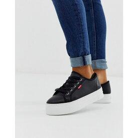 リーバイス Levi's レディース シューズ・靴 スニーカー【flatform lace up trainer】Brilliant black