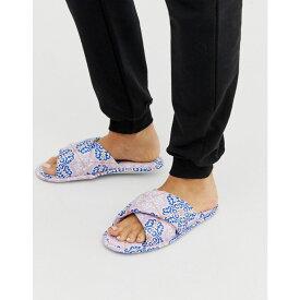 エイソス ASOS DESIGN レディース シューズ・靴 スリッパ【Zest cross strap satin slippers in multi print】Multi print
