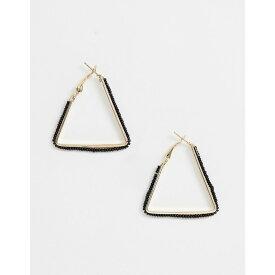 フレンチコネクション French Connection レディース ジュエリー・アクセサリー イヤリング・ピアス【triangular hoop earrings】Gold