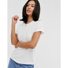 エイソス ASOS DESIGN レディース トップス Tシャツ【ultimate organic cotton t-shirt with crew neck in white】White