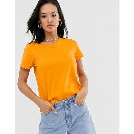 エイソス ASOS DESIGN レディース トップス Tシャツ【organic cotton crew neck t-shirt in orange】Orange